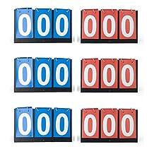 GOGO Set of 6 3-digital Desktop Scoreboards, Great for Multi Sports