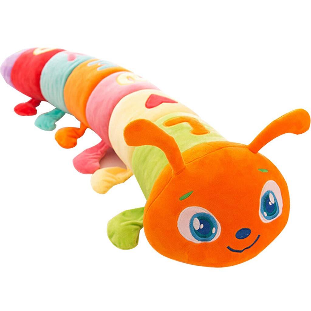 Zhijie Selle el Regalo Relleno Juguete Lindo de Caterpillar de la Almohada Suave de la Felpa para los niños/los Pares/el Color más Viejo (Tamaño : 110cm)