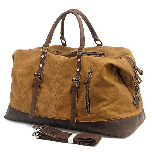 5 all weekender canvas leder xxl reisetasche weekender bag. Black Bedroom Furniture Sets. Home Design Ideas