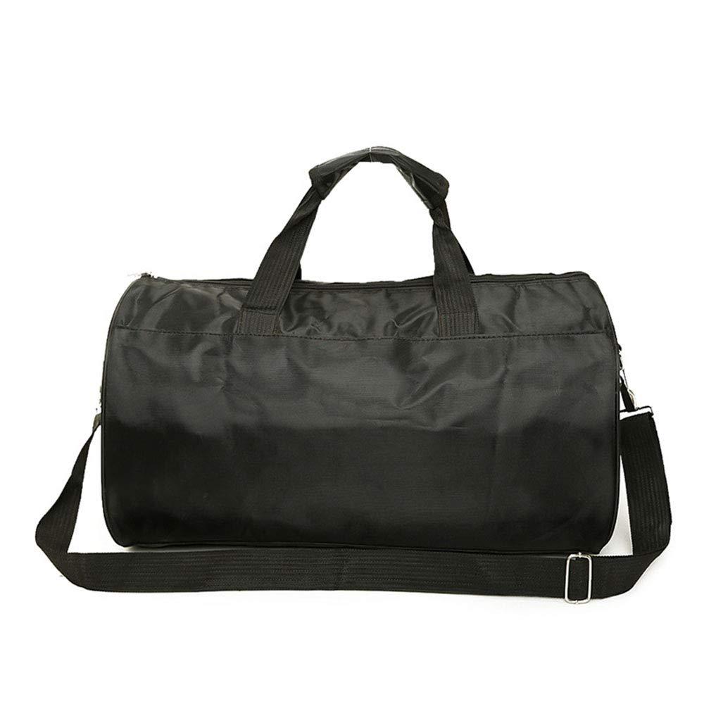 Color : Black Ybriefbag Unisex One Shoulder Cylindrical Fitness Travel Bag Portable Yoga Sports Bag Vacation