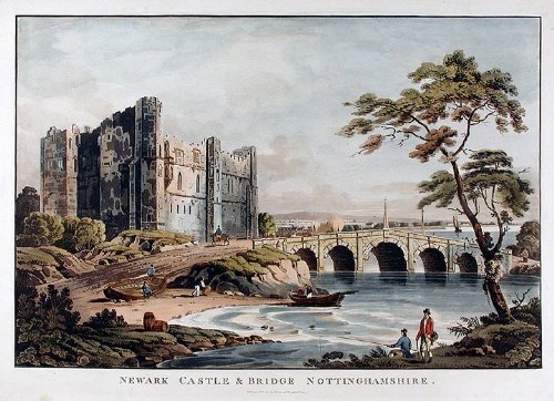 Newark Castle & Bridge Nottinghamshire by