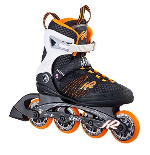 K2 Damen Inline Skate Alexis 80, Orange/Weiß/Schwarz, GR.EU 41.5, 30A0104.1.1.100