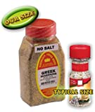 Marshalls Creek Spices Greek No Salt Seasoning, New Size, 10 Ounce