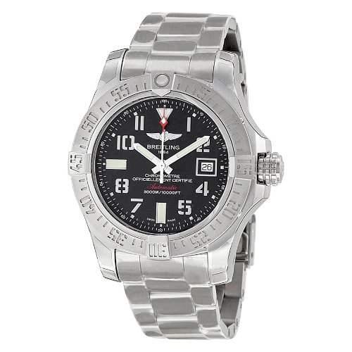breitling-mens-bta1733110-bc31ss-avenger-ii-seawolf-swiss-automatic-silver-tone-stainless-steel-watc
