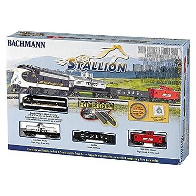 Bachmann Industries The Stallion Ready To Run Electric Train Set Train Car N Scale