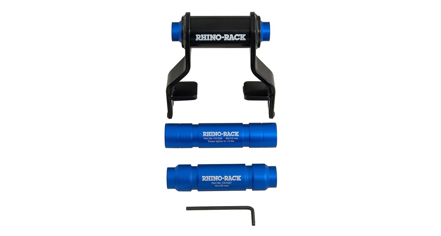 Rhino-Rack USA RBCA030 Multi Axle Adaptor Converts Rhino Fork Mount Carrier To Work w/Thru-Axle Standards Multi Axle Adaptor