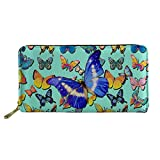 Coloranimal Travel Accessories Leather Long Wallet Butterfly Purse