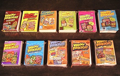 Wacky Packages Stickers Lot of 11 Complete Sets