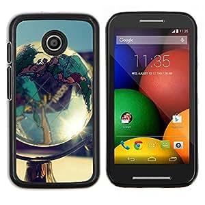 LECELL--Funda protectora / Cubierta / Piel For Motorola Moto E -- Globo Shine --