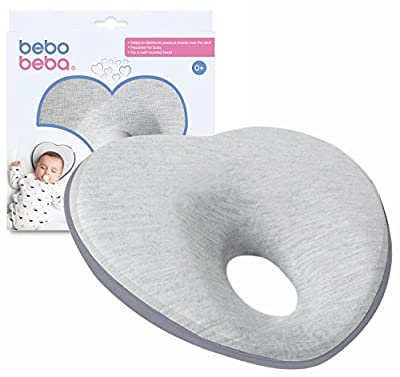 Newborn Baby Head Shaping Pillow   Memory Foam Cushion for Flat Head Syndrome Prevention   Prevent Plagiocephaly   Best Baby Shower   Gift Perfect for Baby Boy & Girl