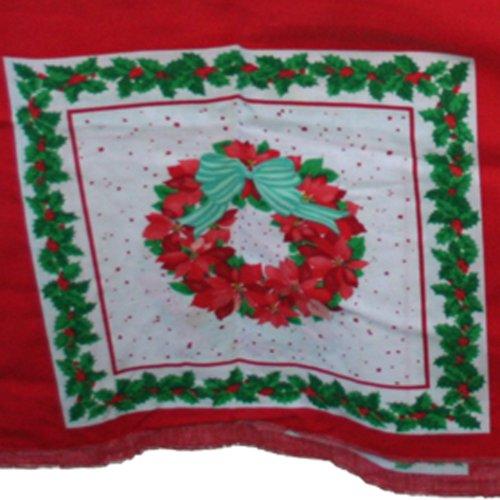 Wreath Quilt Block (Springs Industries Wreath Quilt Block Fabric Panel 2.83 Yd)