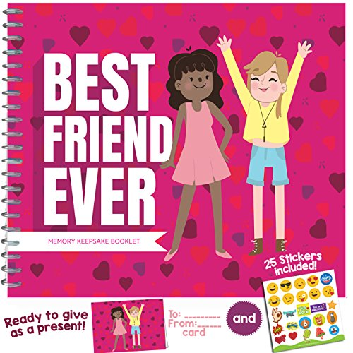 BEST FRIEND GIFTS - Recognition Award for Being an Awesome Best Friend. Funny & Unique Booklet for Your Bestie with Stickers and Matching Card Included!]()