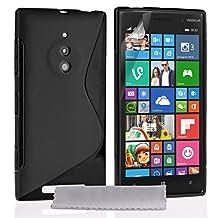 Caseflex Nokia Lumia 830 Case Black Silicone S-Line Cover
