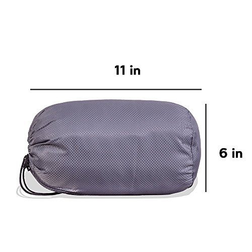 a687d5a06aa Camping and Travel Pillow with Bamboo Derived Viscose Rayon Cover - Adjustable  Compressible - Includes Stuff