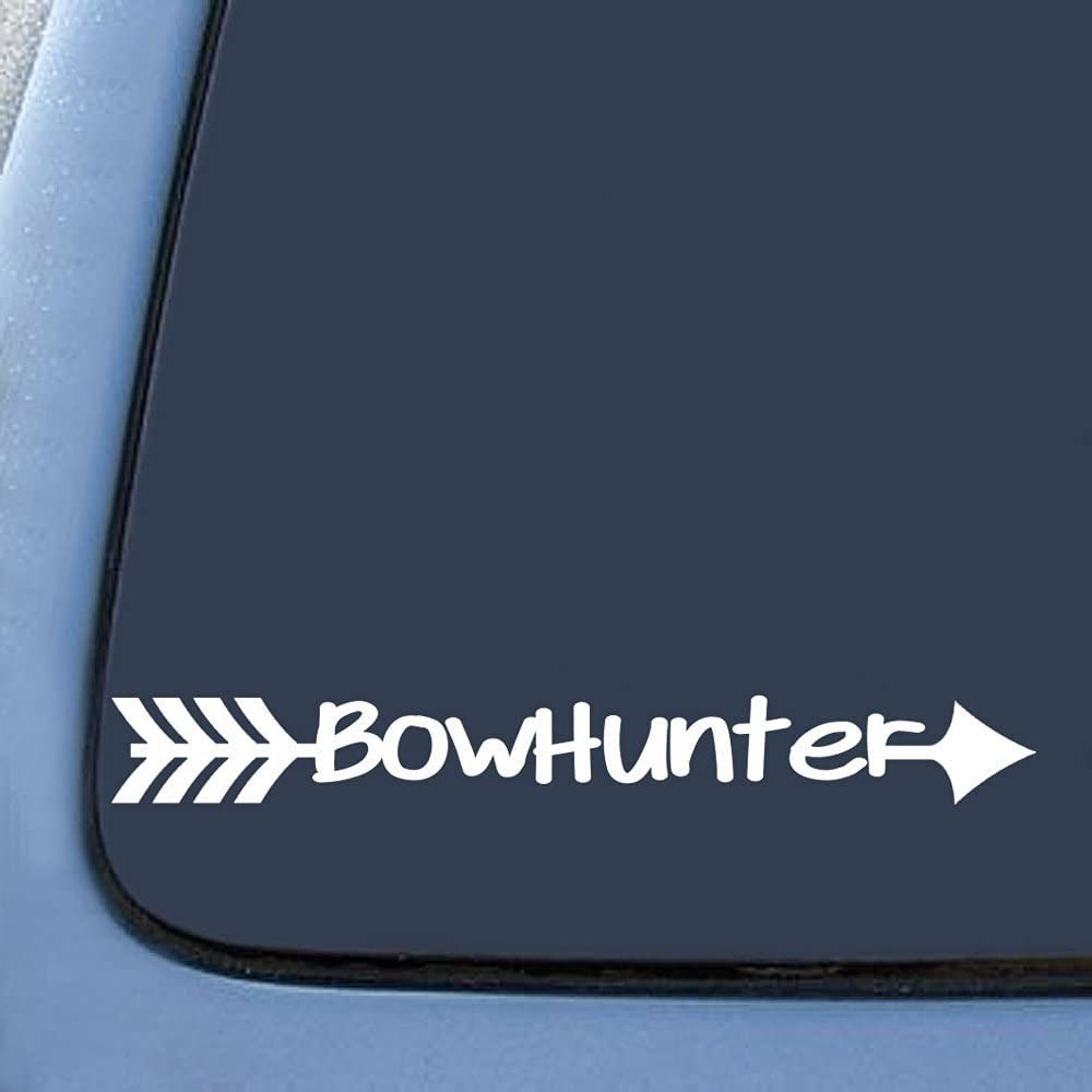 6 DEER TRACKS Vinyl Decals car window stickers Whitetail Bow Hunting Archery