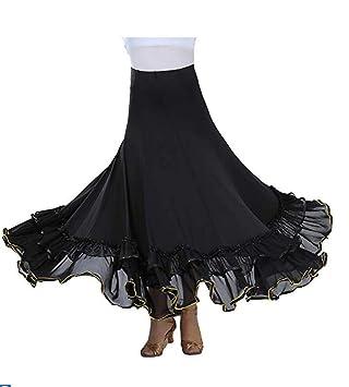 SMACO Nuevo Flamenco Falda Latina de la Salsa del salón de Baile ...