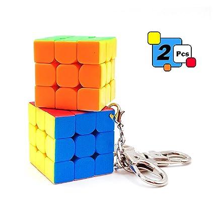 Llavero con forma de cubo de 3 x 3 cm, 2 unidades: Amazon.es ...