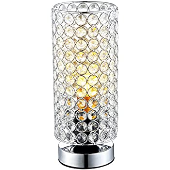 Glitz Crystal and Chrome Table Lamp - - Amazon.com