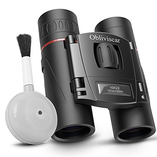 Compact Binoculars for Adults, Small Lightweight Folding HD Binocular for Bird Watching Theater Opera Traveling, Professional 10X22 Mini Binoculars Easy Focus for Adults and Kids.