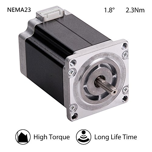 Moons' High Torque NEMA23 Stepper Motor 2.3Nm 3A 2Phase 1.8 Degree Stepper Motor 77mm(3.03 in.) 3D Printer Stepper Motor for CNC (Stepper Motor Cable01891 Include, Model ML23HSAP4300) by MOONS'