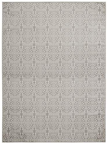 (8' x 10' Area Rug) Diagona Designs Contemporary Floral Damask Design Area Rug, 94