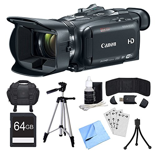Canon VIXIA HF G40 Camcorder, 64GB Card, and Accessories Bun