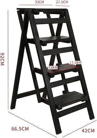 GWXSST Escalera Telescópica Escalera Plegable multifunción para Uso doméstico Escalera de Doble Uso 4 Capas de Madera Maciza espesador Escalera Interior Taburete (Color : C): Amazon.es: Hogar