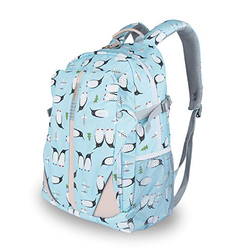 Lightweight Printed Backpack - School Bag for Teen Girls Boys Penguin Cartoon Printed Travel College School Bags Color Blue