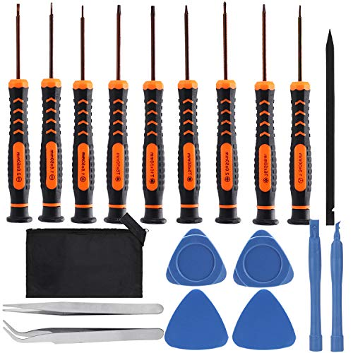 R•HORSE 19 Packs Torx Screwdriver Set Opening Pry Tool Tweezers Repair Kit Work Bag Stainless Steel for Xbox, PS4, MacBook, Phone, Computer/PC, Tablet/Pad, Watch, Ring Doorbell & Folding Knife ()