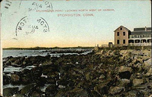 (Stonington Point Looking Northwest up Harbor Stonington, Connecticut Original Vintage Postcard )