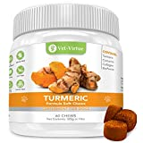 Turmeric for Dogs- Organic Turmeric with Curcumin, Chicken Flavored Soft Chews with Collagen and Bioprene to Ensure the Highest Absorption of this Natural Antioxidant Larger Image