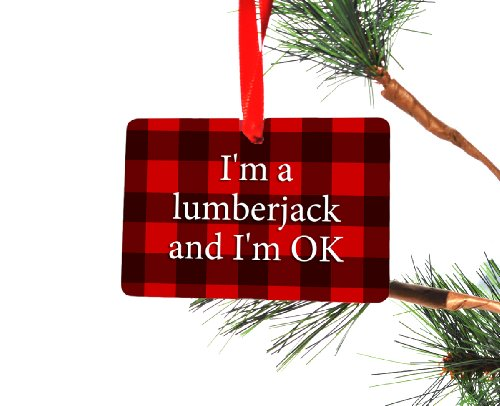 Neurons Not Included I'm a Lumberjack Monty Python Christmas Ornament (Christmas Python Ornament Monty)