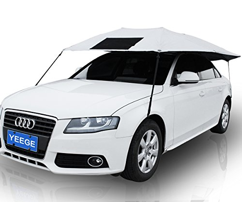 YEEGE Universal Fit Car Sun Shade Canopy Cover - Nylon - Silver Universal Canopy