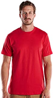product image for US Blanks Men's 4.3 Oz. Short-Sleeve Crewneck 2XL Red
