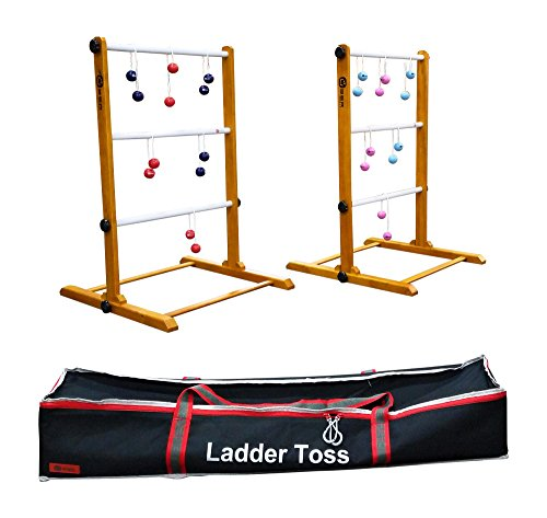 Uber Games Premium Ladder Toss - Double Game - Red, Navy Blue, Pink, and Sky Blue (Double Ladder Ball Game)