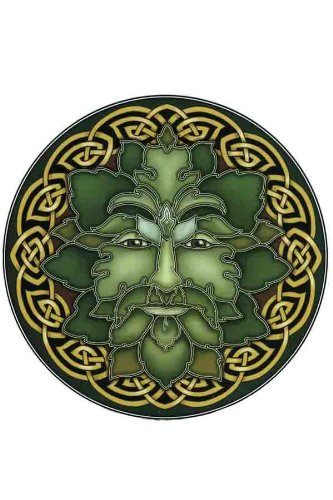 Window Stickers 2-Sided Mandala Art Green Man