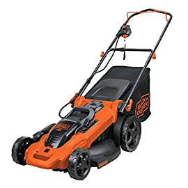 "BLACK+DECKER CM2043C Cordless Mower, 20"" 4 Two 40V max Lithium ion batteries are included for twice the runtime Mulching, bagging and side discharge of grass clippings gives you 3-in-1 versatility Mow right up to edges and spend less time trimming thanks to the edgemax design"