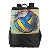 Special Colorful Volleyball Unisex Casual Hiking Bag