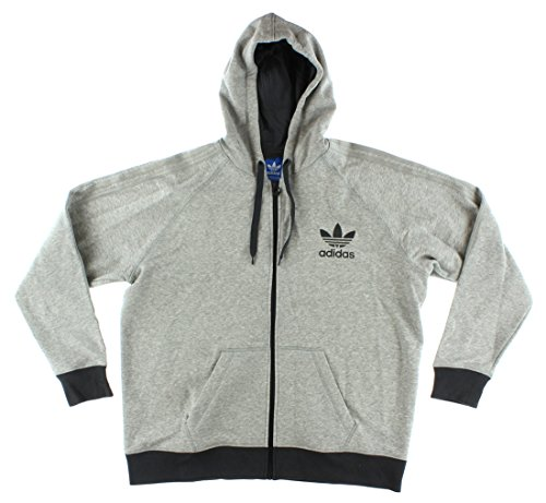 adidas Originals Men's Sport Essentials Full-Zip Hoody, X-Large, Medium Grey Heather