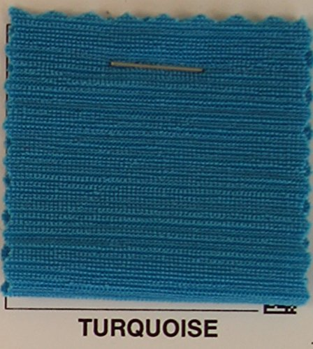 2-Tone Slinky Ribbed Stretch Jersey Knit Fabric - TURQUOISE