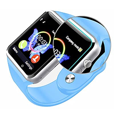 Padgene New GSM Bluetooth Smart Watch with Camera for Samsung S5 / Note 2 / 3 / 4, Nexus 6, Htc, Sony and Other Android Smartphones, Blue