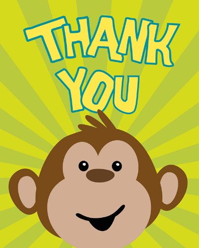 8-Count Thank You Notes, Monkeyin' Around ()