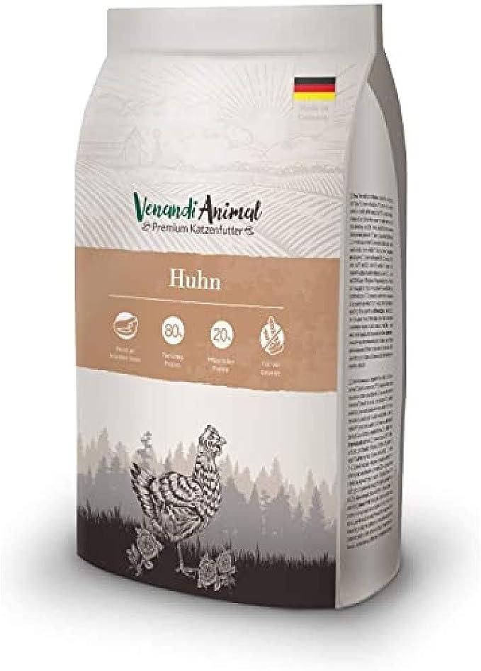 Venandi Animal - pienso seco para Gatos - Pollo como pienso seco - Completamente Libre de Cereales - 1,5 kg
