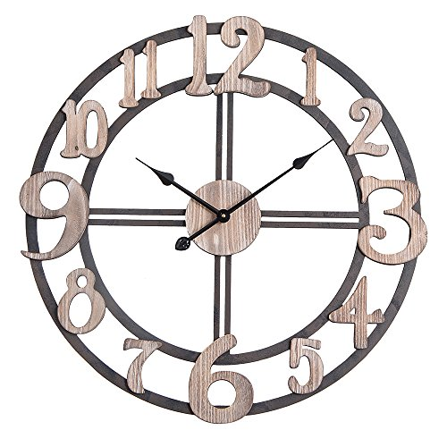 Utopia Alley Oversized Roman Round Wall Clock -28
