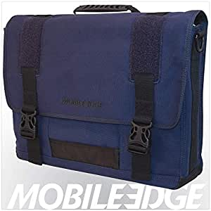 Mobile Edge Eco-Friendly Canvas Messenger Bag 17.3-Inch (Blue)