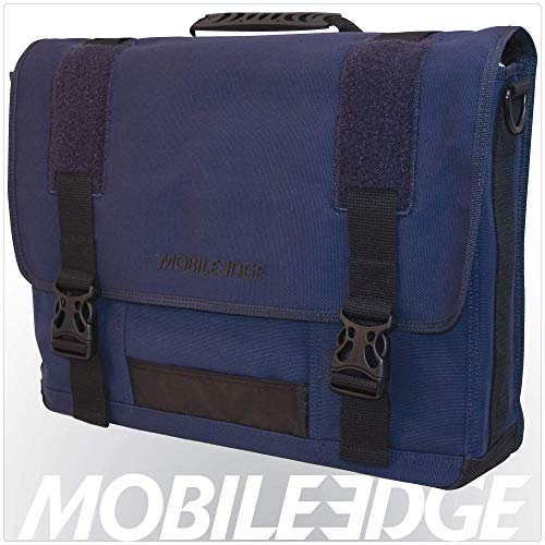 Mobile Edge Laptop Eco Messenger Eco-Friendly, 17.3 Inch Cotton Canvas Blue for Men, Women, Business, Student MECME3