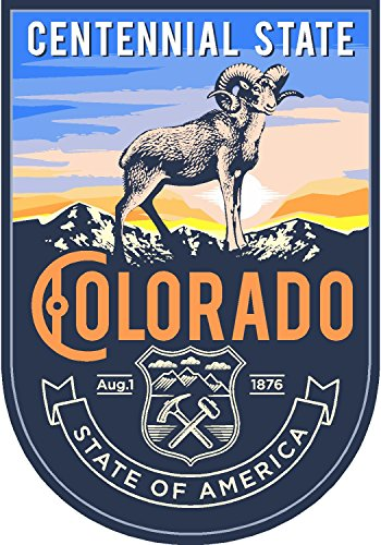 State animal Colorado day 4x5.5 inches sticker decal die cut vinyl - Made and Shipped in USA