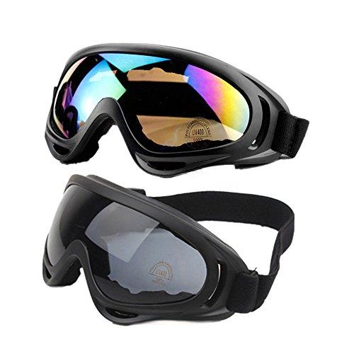 Glumes Ski Snowboard Goggles UV Protection Anti-Fog Snow Goggles for Men Women Youth