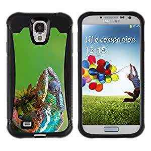 ZETECH CASES / Samsung Galaxy S4 I9500 / THE COOL CHAMELEON 2 / El Guay Camaleón 2 / Robusto Caso Carcaso Billetera Shell Armor Funda Case Cover Slim Armor