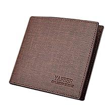 ABC® Slim Men Leather Bifold Wallet Purse